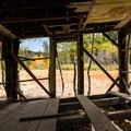 Inside the dilapadated Martis Creek Cabin.- Martis Creek Cabin