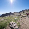 Hiking along the trail en route to Pikes Peak.- Pikes Peak, Crags Route Hike