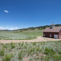 Historic barn at Florissant Fossil Beds National Monument.- Florissant Fossil Beds National Monument