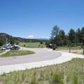 Visitor Center at Florissant Fossil Beds National Monument.- Florissant Fossil Beds National Monument