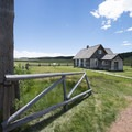1878-built Hornbeck Homestead, Florrisant Fossil Beds National Monument.- Hornbeck Homestead
