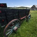 Old carriage at the Hornbeck Homestead.- Hornbeck Homestead