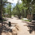 Day use picnic area and trailhead at Mueller State Park.- Mueller State Park