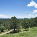 View south from the Mueller State Park Visitor Center.- Mueller State Park
