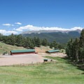 Equestrian facilities at Mueller State Park Visitor Center.- Mueller State Park