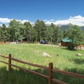 Cabins at the Mueller State Park Campground.- Mueller State Park