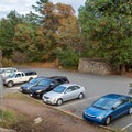 Upper parking lot at the top of Churchill Drive. Wheelchair accessible viewpoint.- Mount Douglas Park