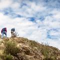 Ascending the peak of Little Mount Doug.- Mount Douglas Park