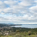 The view of the Saanich Peninsula to the northwest.- Mount Douglas Park
