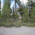 The trailhead from the parking area.- Osprey Point Interpretive Trail