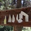"A ""haiku board"" near the trailhead.- Osprey Point Interpretive Trail"
