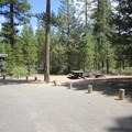 A typical campsite.- Fall River Campground