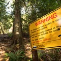 This sign should be taken seriously. - Mount Finlayson