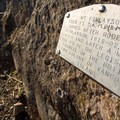 A plaque at the summit.- Mount Finlayson