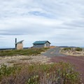 A cabin is located at Fremont Point and is available for rent.- Fremont Point Day Use Area