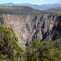 Looking east into the Black Canyon of the Gunnison from Warner Point Nature Trail.- Warner Point Nature Trail