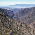 Views east into the Black Canyon of the Gunnison from Warner Point Nature Trail.- Warner Point Nature Trail