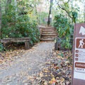 Trailhead for the Tennessee Rock Trail and the James Edmonds Trail.- Tennessee Rock Trail