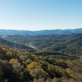 Looking into North Carolina from Tennessee Rock Overlook.- Tennessee Rock Trail