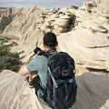 Admiring Nebraska's Badlands.- Bison Trail