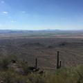 The view from atop the saddle.- Picacho Peak via Hunter Trail