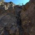 The steepest section of the cable climb.- Picacho Peak via Hunter Trail