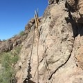 Final cable section prior to the summit.- Picacho Peak via Hunter Trail