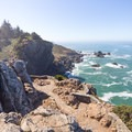 Looking south from the top of Wedding Rock toward Patrick's Point.- Wedding Rock