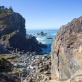 A great location for rock climbing can be found on the side of wedding rock.- Wedding Rock
