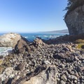 This coastal access is very rocky, which provides great shelter for sea life.- Wedding Rock Coastal Access
