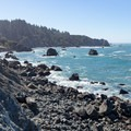 Looking south along the coast of Patrick's Point State Park.- Rocky Point