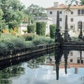 View to main house.- Vizcaya Museum + Gardens