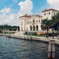 View of Vizcaya from piers.- Vizcaya Museum + Gardens