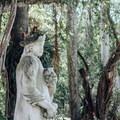 Statue in garden.- Vizcaya Museum + Gardens