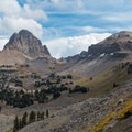 Buck Mountain Pass from Alaska Basin.- Teton Crest Trail