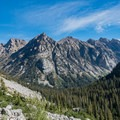 Views down Cascade Canyon.- Teton Crest Trail