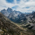 Tetons from the trail toward Paintbrush Divide.- Teton Crest Trail