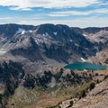 Lake Solitude from just below Paintbrush Divide.- Teton Crest Trail
