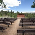 Amphitheater at Mueller State Park Campground.- Mueller State Park Campground