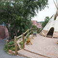 Teepee replica at Manitou Cliff Dwellings.- Manitou Cliff Dwellings