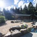 Trailhead and Helen Hunt Falls Visitor Center.- Helen Hunt Falls Hike