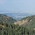 View east from Silver Cascade Falls.- Helen Hunt Falls Hike
