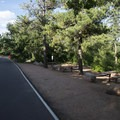 Picnic area along South Cheyenne Canyon Road.- North Cheyenne Cañon Park