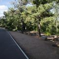 Picnic area along South Cheyenne Canyon Road.- North Cheyenne Cañon Park