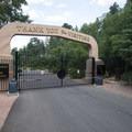 Large entry gate at Seven Falls.- Seven Falls