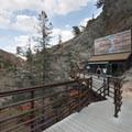 Eagle's Nest viewing platform at Seven Falls.- Seven Falls