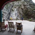 Lower viewing pavilion at Seven Falls.- Seven Falls