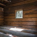 Interior of the rebuilt Ladies Cabin.- Ah-Di-Na Historic Site