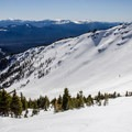 Looking south at the southeast ridge and Avalanche Bowl.- Mount Bailey Backcountry Skiing