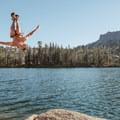No lifeguards on duty at Long Lake.- Long Lake Swimming Hole via Palisades Creek Trail